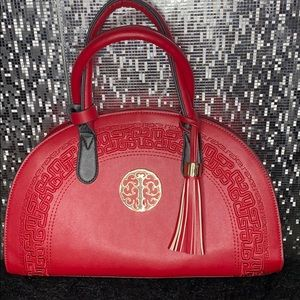 Vintage Chinese style handbag in red for luck!